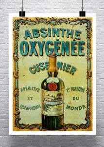 Absinthe Oxygenee Vintage Advertising Poster Rolled Canvas Giclee Print 24x32 in