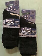 Darn Tough Cable Basic Crew Light Cushion Socks Women's Charcoal Large 2 PAIR