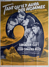 FROM HERE TO ETERNITY - LANCASTER / KERR / SINATRA - REISSUE LARGE FRENCH POSTER