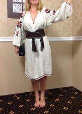 *Vyshyvanka* Antique Dress Ukrainian Handmade Embroidered Linen Vintage 1900s