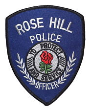 ROSE HILL KANSAS KS Police Sheriff Patch CITY SEAL RED ROSE FLOWER ~