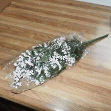New Floral items - 1 White Gypsophila Bush, 5 Blushing Cream Rose & Twig Picks