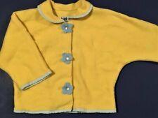 CORKY & COMPANY Girls' Yellow Fleece Blue Gingham-Trimmed Jacket ~ Sz 4T