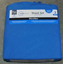 Unopened Mainstays Microfiber Sheet Set Royal BlueTwinXL