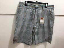 Robert Graham men's size 36 NWT plaid detailed shorts
