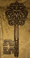 Vintage Heavy Plastic Gold Skeleton Key Wall Hanging