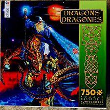 Ceaco Dragons Dragones Wizard on a Dragon 750 piece puzzle