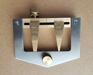 Dovetail Marking Gauge, steel and brass, by Collett Engineering