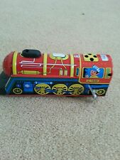 Clockwork tin toy collection vintage Overland Express train whistle
