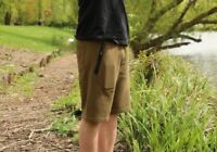 Korda Kore Olive Green Jersey Match Course Carp Fishing Shorts - All Sizes