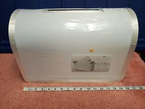 Victoria Lynn Wedding Card Box Wedding Gift Box w/ Silver Trim NWT