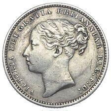 1883 SHILLING - VICTORIA BRITISH SILVER COIN - NICE