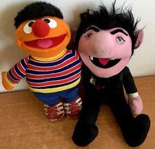 Sesame Street Ernei & The Count Set Vintage Muppets  Stuffed Jim Henson RARE HTF