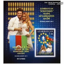 Eurovision Song Contest Briefmarke 2011, Aserbaidschan / Baku, postfrisch