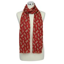 Peony Gingerbread Man Print Scarf - Red | FREE UK Postage!