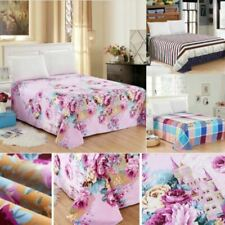 1 Pc Bed Fitted Sheet Cover Floral Printed Soft Elastic Sheets Bed Sheets