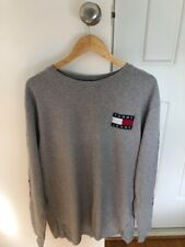Tommy Hilfiger Grey Long Sleeve Logo T-Shirt Size XL