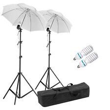 Photography Studio Soft box Lighting Kit 85w Bulbs Adjustable Light Stands