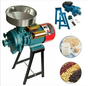 3000W Efficient Dry & Wet Electric Grain Grinder Mill Corn/Spices/Feed W/Funnel
