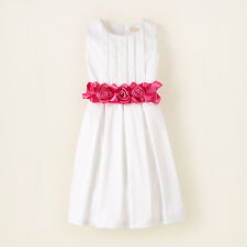 NEW nwt CHILDRENS PLACE Pink Rosette PLEATED ROSE SASH DRESS 6x 7 Flower Girl