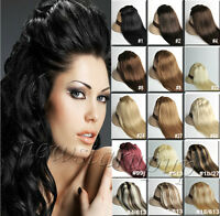"Real Hair Extension 26"" 7pcs 100% Real Human Hair Full Head Clip in 100g 120g"
