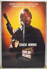 CODE OF SILENCE FF ORIG 1SH MOVIE POSTER CHUCK NORRIS HENRY SILVA (1985)