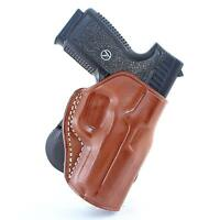 """Leather Paddle Holster Fits Springfield 1911 EMP 9MM 3""""BBL, Right H/D #1504#"""