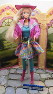 """"""" Suncharm """" Western Barbie Mattel 1989 mit Original Mode Zubehör Vintage"""