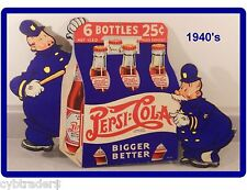 1940's Pepsi - Cola  Ad  Refrigerator / Tool Box  Magnet Man Cave