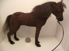 1:12 Scale Miniature Dollhouse Brown horse by Lucy Maloney