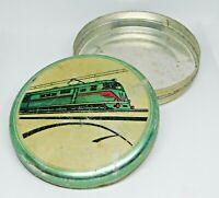 Vintage Soviet Empty Candy Tin Box TRAIN USSR Ukraine 1960s