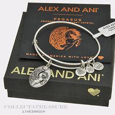 Authentic Alex and Ani Pegasus Rafaelian Silver Charm Bangle