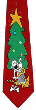 A Dogs Christmas Mens Necktie Funny Holiday Neck Tie Canine Red Xmas Gift New