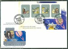 Guinea 2014 10th Anniversary Of Cassini'S Voyage To Saturn Sht First Day Cover