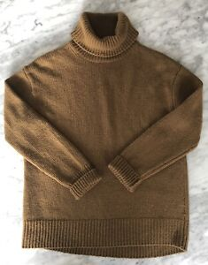 SEED HERITAGE - Cashmere Turtle Neck Sweater - Size Small - RRP $500