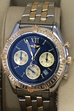 100% Authentic Breitling Womens Chronograph Two Tone Swiss Quartz  watch.