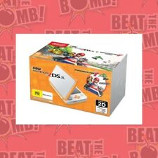 Nintendo 2ds XL Console Orange With Mario Kart 7 - 3ds Game -