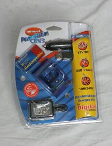 Hahnel CRV3 Olympus Nikon etc Power Station Mains+Battery+Charger+USB+12v Car!