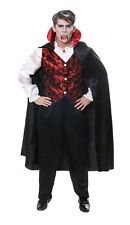 Vampire Count Dracula Halloween Fancy Dress Size M-l Costume Outfit