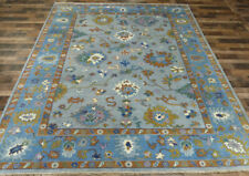 9'x12' New Gray Modern Hand knotted wool Turkish Oushak Oriental area rug