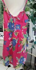 HOLLISTER Womens Sundress Dress Size 6 XS Pink Floral 100% cotton Lined VGC