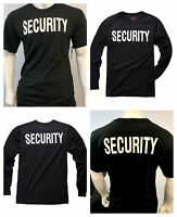 Mens Womens Army Style Security Uniform Black Top Short Long Sleeve T-shirt Tee