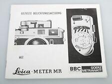 Leica metros Sr manual de instrucciones instrucciones en alemán 22 páginas