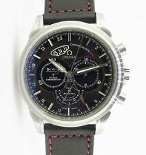 .Omega De Ville Chronoscope Gmt Co Axial Chronometer Steel Watch Box & Docs