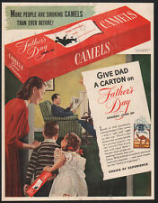 1948 CAMEL Cigarettes - Kids Give Dad A Carton of Cigs On Fathers Day VINTAGE AD