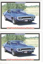 1971 Road Runner 440 Six Pack baseball card sized cards - Must See!! - lot of 2