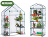Heritage Garden PVC Greenhouse Walk In & 4-Tier Plant Shelter Grow House Outdoor