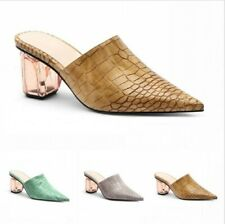 New Women's Pointy Toe Slipper Summer Ladies Mule Leisure Comfy Shoes Backless