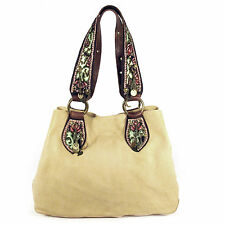 BETSEY JOHNSON Large Leather Tote with Brass Hearts Moons Stars Charms, Rosebuds