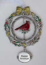 zz11cD Happy Holidays Christmas Cardinal 3D Ornament Ganz